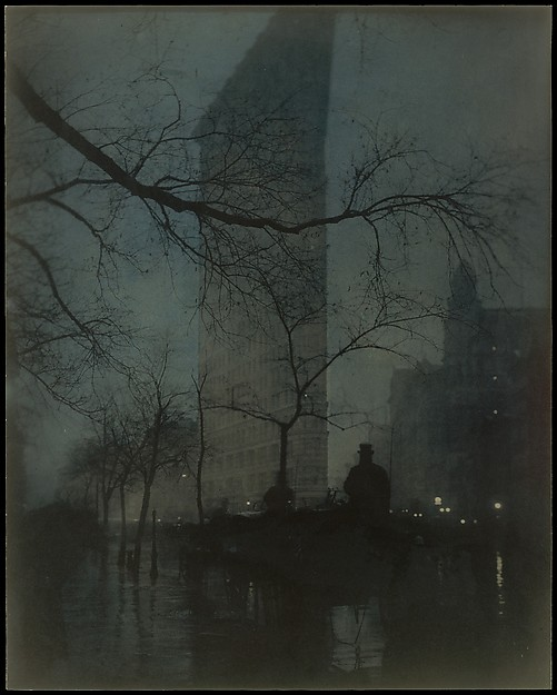 The Flatiron, Edward J. Steichen (American (born Luxembourg), Bivange 1879–1973 West Redding, Connecticut), Gum bichromate over platinum print