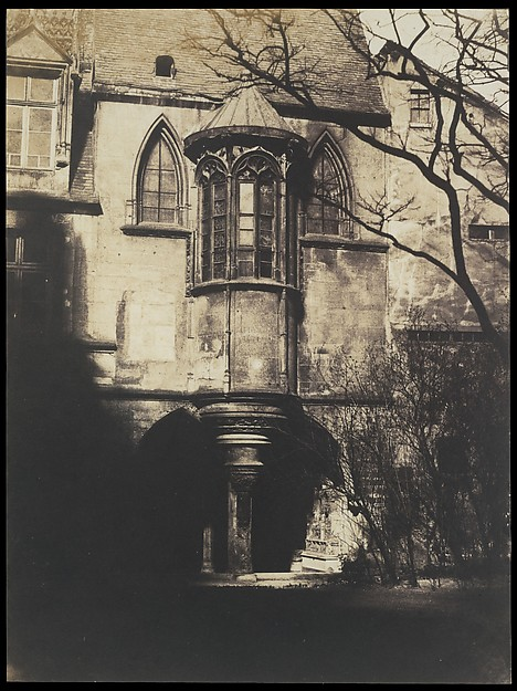 Hotel de Cluny, Paris, Gustave Le Gray (French, 1820–1884), Salted paper print from paper negative