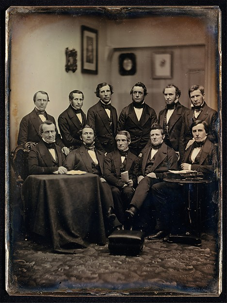 [Boston Lawyers or Clergymen (?)], Southworth and Hawes (American, active 1843–1863), Daguerreotype