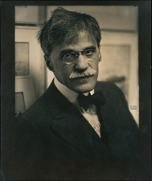 Alfred Stieglitz at 291, Edward J. Steichen (American (born Luxembourg), Bivange 1879–1973 West Redding, Connecticut), Gum bichromate over platinum print