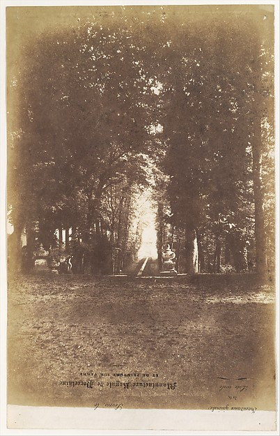 [Gardens of the Chàteau de Saint-Cloud], Louis-Rémy Robert (French, 1810–1882), Salted paper print from paper negative