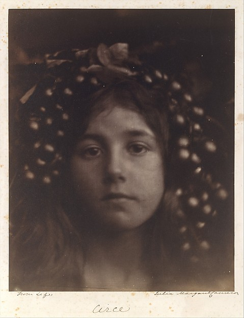 Circe, Julia Margaret Cameron (British (born India), Calcutta 1815–1879 Kalutara, Ceylon), Albumen silver print from glass negative