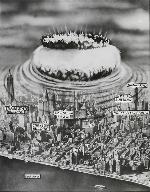 New York Nightmare: Air-burst Atomic Bombs Make Cities in the Northeast Obsolete..., John Carlton (American, active 1940s–50s), Gelatin silver print