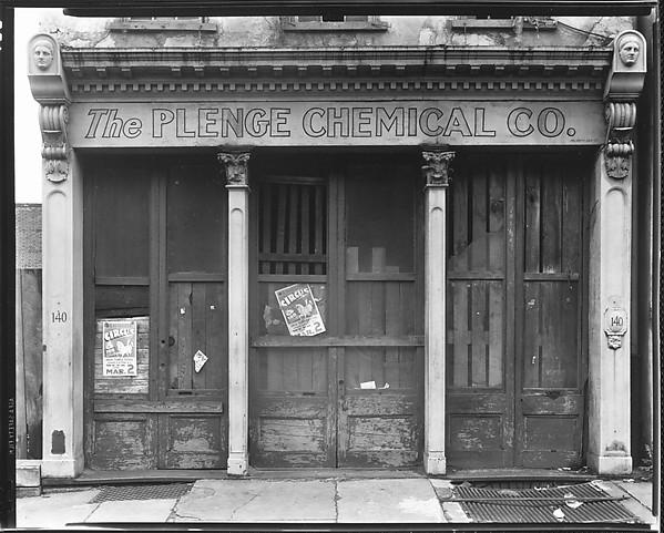 [Boarded Shopfront Of The Plenge Chemical Company, Charleston, South  Carolina], Walker