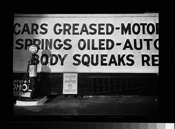 [Filling Station Pump and Billboard], Walker Evans (American, St. Louis, Missouri 1903–1975 New Haven, Connecticut), Film negative