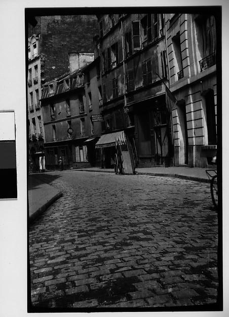 [Cobblestone Street and Buildings, France], Walker Evans (American, St. Louis, Missouri 1903–1975 New Haven, Connecticut), Film negative