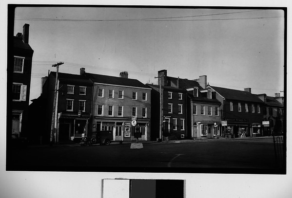 [Main Street Shops and Parked Cars], Walker Evans (American, St. Louis, Missouri 1903–1975 New Haven, Connecticut), Film negative