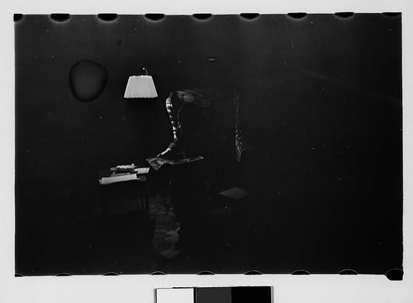 [Gifford Cochran Reading by Lamplight], Walker Evans (American, St. Louis, Missouri 1903–1975 New Haven, Connecticut), Film negative