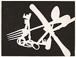 [Photogram; Knife, Fork, Spoon, Keys], Franz Roh (German, 1890–1965), Gelatin silver print