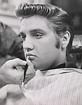 [Elvis Presley Before Retouching to Simulate G. I. Haircut], Unknown (American), Gelatin silver print