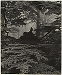 Sphinx, Chiswick House Gardens, Bill Brandt (British (born Germany), Hamburg 1904–1983 London), Gelatin silver print