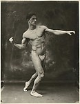 [Male Model Preparing to Throw a Punch], Unknown, Gelatin silver print