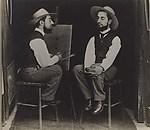 [Henri de Toulouse-Lautrec as Artist and Model], Maurice Guibert (French, 1856–1913), Gelatin silver print