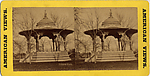 [67 Stereographic Views of Music Stand, Central Park, New York], Various, American, Albumen silver prints