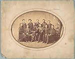 [Group of Eleven Men, Including Walker Evans I], Unknown (American), Albumen silver print