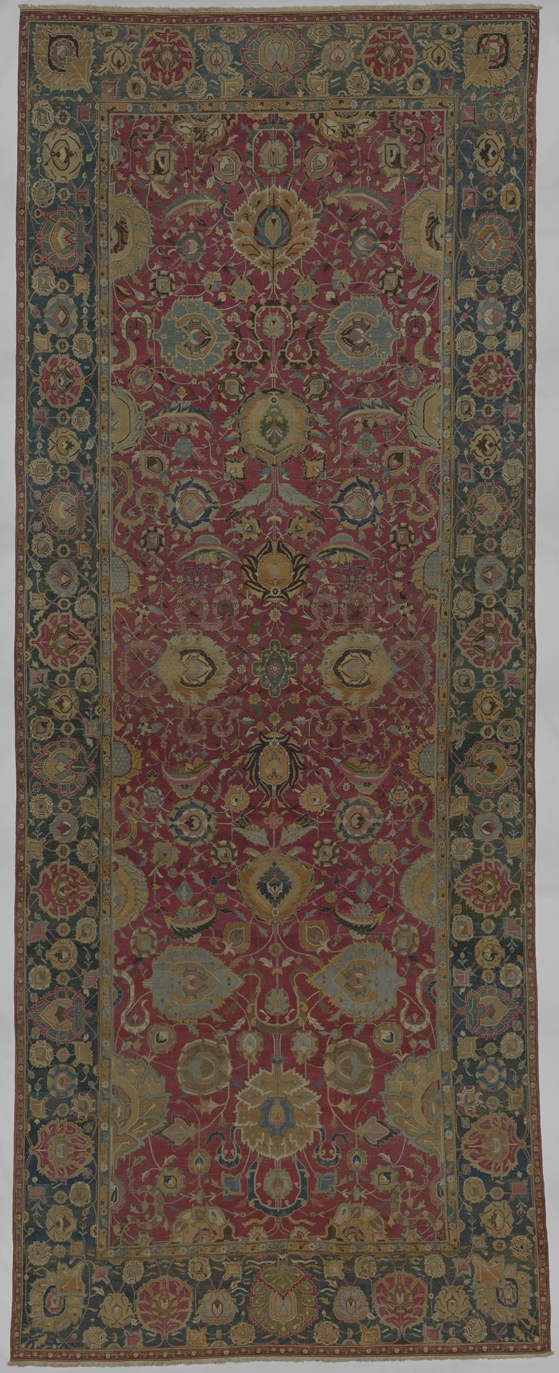 Indo Persian Carpet With Vine Scroll And Palmette Pattern