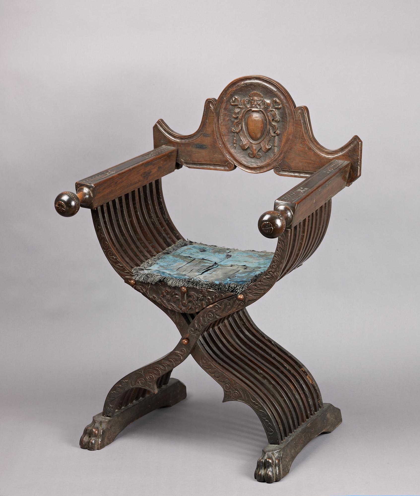 Folding Armchair Sedia A Savonarola Type Italian The Met