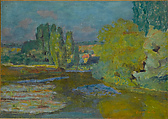 House on the Seine near Vernon, Pierre Bonnard (French, Fontenay-aux-Roses 1867–1947 Le Cannet), Oil on canvas