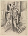 Reflection in the Mirror, Henri Matisse (French, Le Cateau-Cambrésis 1869–1954 Nice), Charcoal on paper