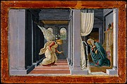 The Annunciation, Botticelli (Alessandro di Mariano Filipepi) (Italian, Florence 1444/45–1510 Florence), Tempera and gold on wood