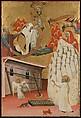 Santa Francesca Romana Clothed by the Virgin, Attributed to Antonio del Massaro da Viterbo (Italian, ca. 1450–ca. 1516), Tempera on wood, gold ground