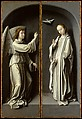 Archangel Gabriel; The Virgin Annunciate, Gerard David (Netherlandish, Oudewater ca. 1455–1523 Bruges), Oil on oak panel