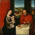 Virgin and Child with Saint Joseph, Netherlandish Painter, second half of 16th century, Oil on oak panel