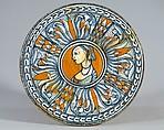 Plate (tagliere), Maiolica (tin-glazed earthenware), Italian, probably Deruta