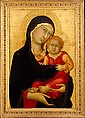 Madonna and Child, Simone Martini (Italian, Siena, active by 1315–died 1344 Avignon), Tempera on wood, gold ground