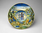 Armorial Plate (tondino): The story of King Midas, Nicola da Urbino (Italian, active by 1520–died ?1537/38 Urbino), Maiolica (tin-glazed earthenware)