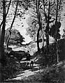 Fir Trees in Les Trembleaux, near Marlotte (Sapins aux Trembleaux à Marlotte), Henri-Joseph Harpignies (French, Valenciennes 1819–1916 Saint-Privé), Oil on canvas