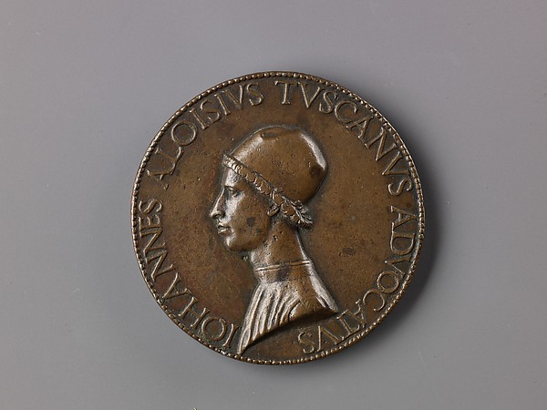 Portrait medal of Giovanni Alvise Toscani, Lysippus the Younger (Italian, active Rome, ca. 1470–84), Bronze (copper alloy with a warm brown patina)