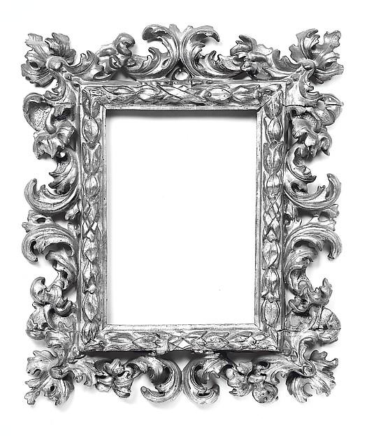 Pierced acanthus-leaf frame, Pine, Italian, Bologna