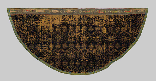 Cope with an Orphrey, Silk, wool, linen,, Italian and French