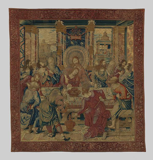 The Last Supper, Designed by Bernard van Orley (Netherlandish, Brussels ca. 1492–1541/42 Brussels), Wool, silk, silver-gilt thread.
