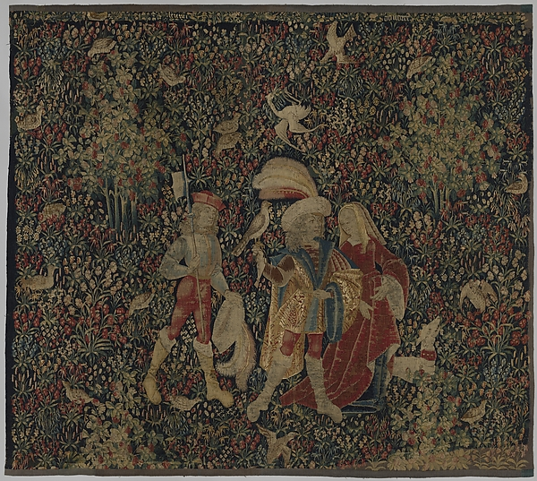 The Falcon Hunt, Wool, and silk in slit tapestry weave with some non-horizontal or eccentric wefts., Southern Netherlands