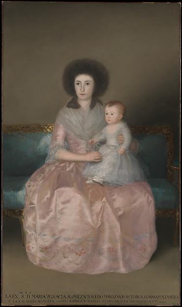 Condesa de Altamira and Her Daughter, María Agustina, Goya (Francisco de Goya y Lucientes) (Spanish, Fuendetodos 1746–1828 Bordeaux), Oil on canvas