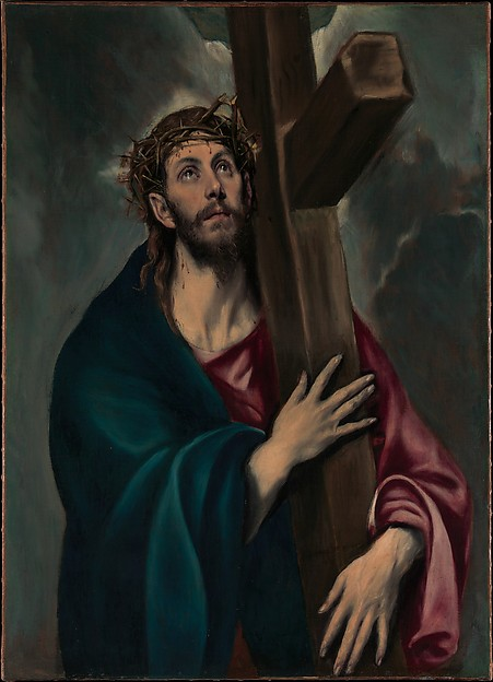 Christ Carrying the Cross, El Greco (Domenikos Theotokopoulos) (Greek, Iráklion (Candia) 1540/41–1614 Toledo), Oil on canvas