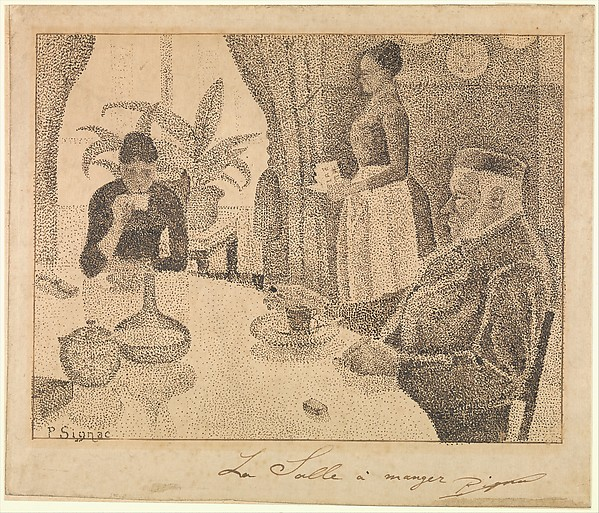 The Dining Room, Paul Signac (French, Paris 1863u20131935 Paris),