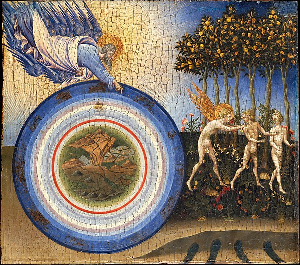 The Creation of the World and the Expulsion from Paradise, Giovanni di Paolo (Giovanni di Paolo di Grazia) (Italian, Siena 1398–1482 Siena), Tempera and gold on wood