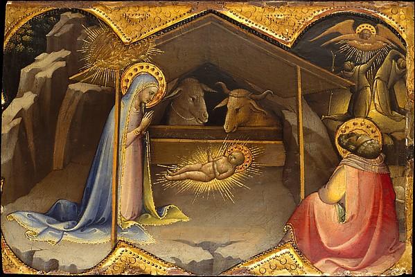 The Nativity, Lorenzo Monaco (Piero di Giovanni) (Italian, Florence (?) ca. 1370–1425 Florence (?)), Tempera on wood, gold ground