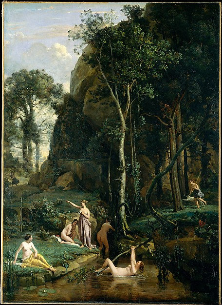 Diana and Actaeon (Diana Surprised in Her Bath), Camille Corot (French, Paris 1796–1875 Paris), Oil on canvas