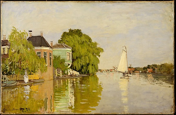 Houses on the Achterzaan, Claude Monet (French, Paris 1840–1926 Giverny), Oil on canvas