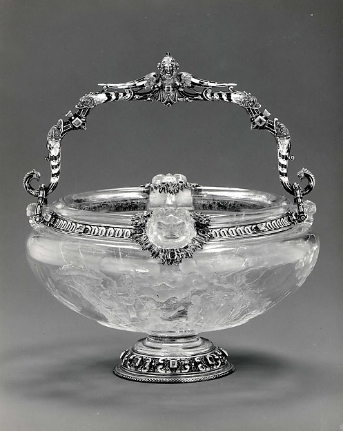 Italian  , Milan, third quarter of the 16th century, and, Rock crystal, cut on the wheel, enameled  gold and diamonds.