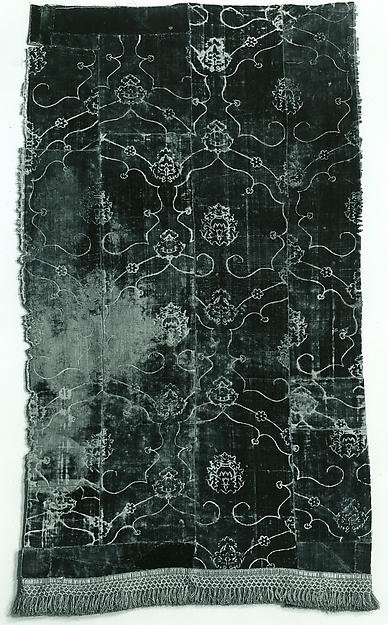 Panel, Silk; metal;, Italian or Spanish